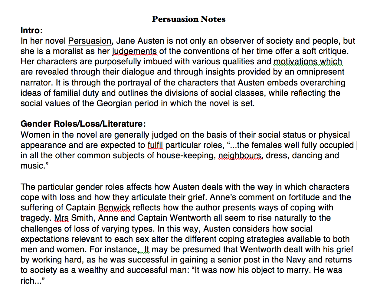 jane austen and social status essay