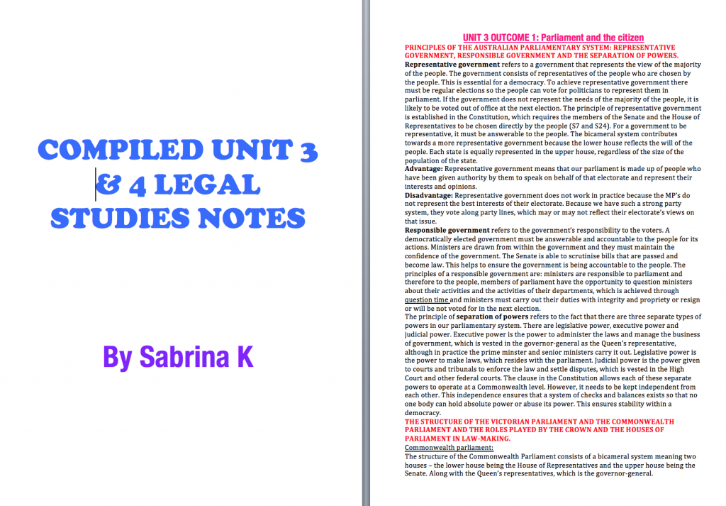 legal studies notes Legal studies – preliminary course part i – the legal system topic 1: basic legal notions 111 perceptions of the law and the legal system: conflicting images.