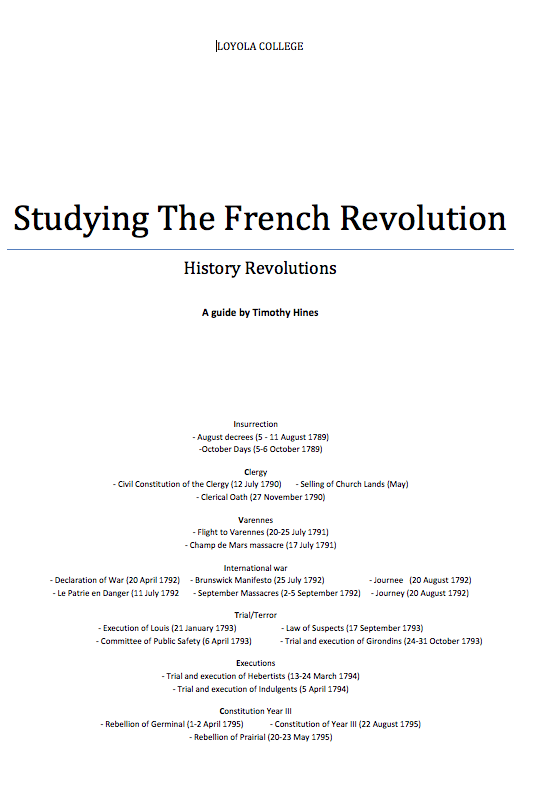 french revolution notes The trivial demands behind the 1968 french 'revolution'  following my  suggestion (see last week's notes) of a scheme called preach first to.
