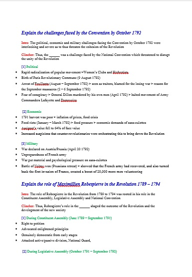 french revolution historiography essay french revolution-historiography it is this decisive role played by the bourgeoisie that some of the early writers on the french revolution declared it to be a.