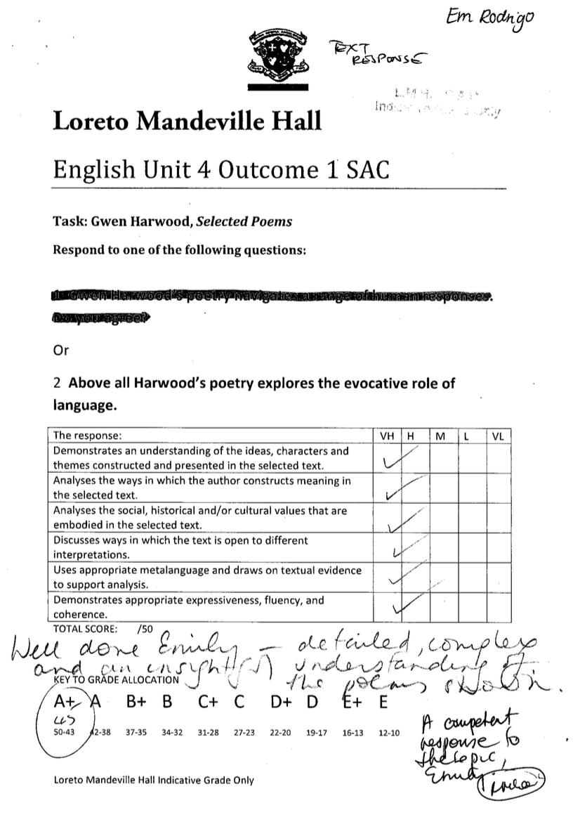 vce english text response gwen harwood notexchange screen shot 2015 04 26 at 12 18 14 pm