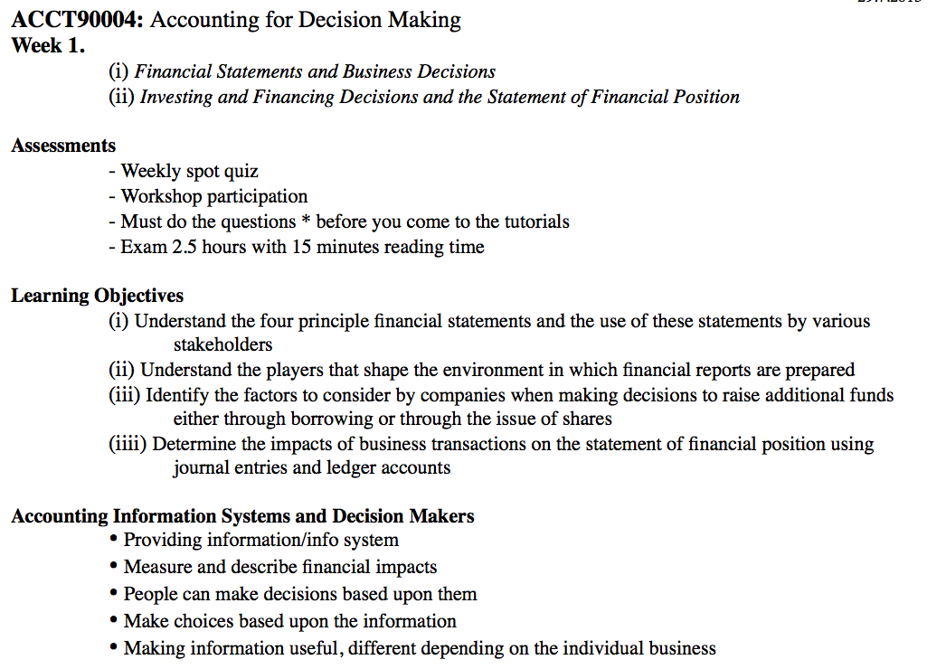 accounting and decision making techniques Decision taken must be accurate and should not lead to confusion the decisions taken must also be scientific and available for accuracy and verification the important techniques that aid the manager in decision making are operations research and other quantitative techniques 1 operations.