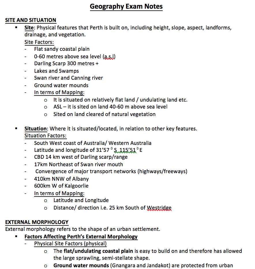 Geography 3AB Exam Notes - NoteXchange