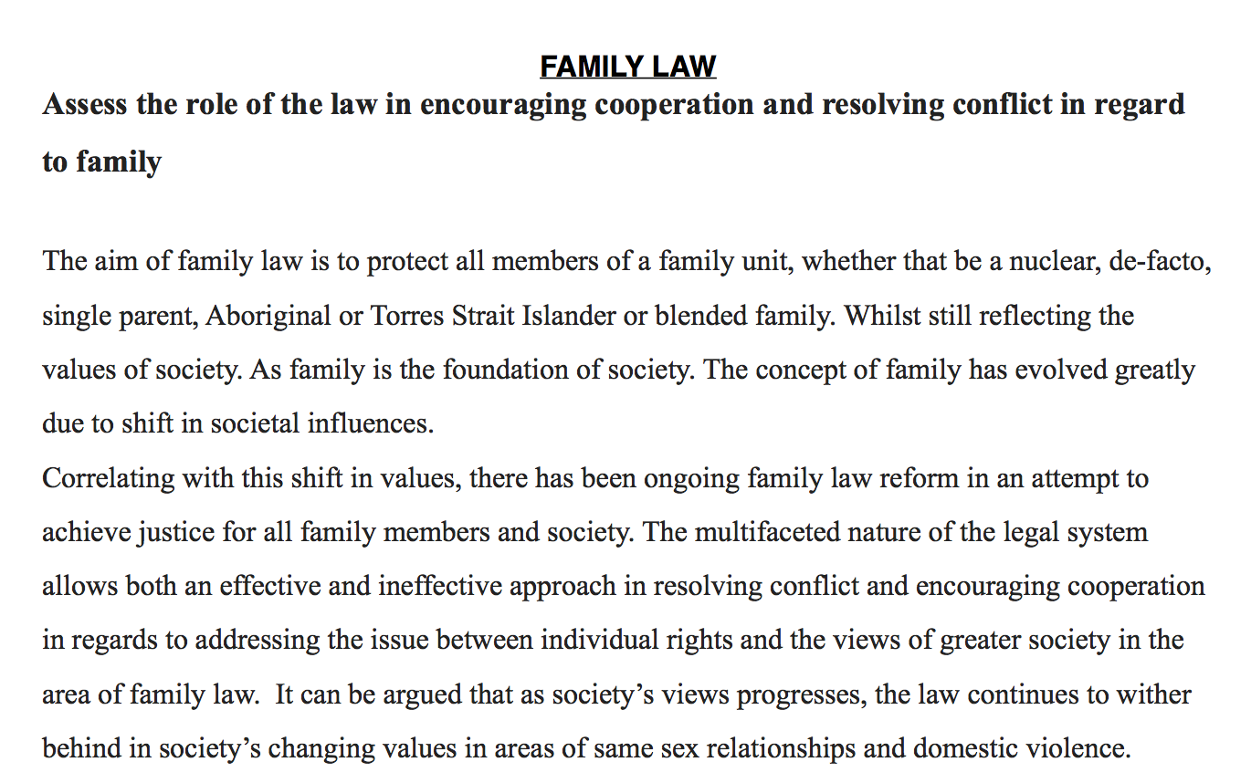 Family law essay